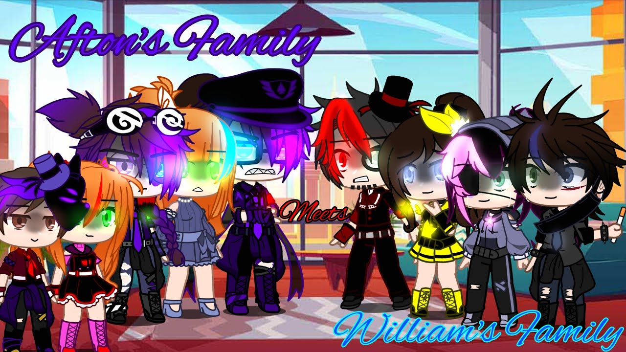 Download Afton family meets William's family / FNaF / Afton Family / Sparkle_Aftøn