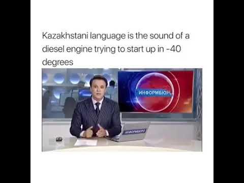 Kazakhstan language funniest language on earth sounds like engine | Kazakhstani language | new video