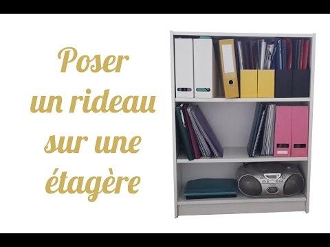 Diy Poser Une Tringle Et Un Rideau Sur Un Meuble Ikea Youtube