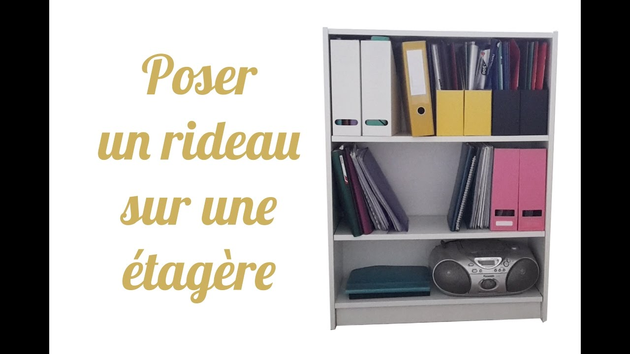 diy poser une tringle et un rideau sur un meuble ikea youtube. Black Bedroom Furniture Sets. Home Design Ideas