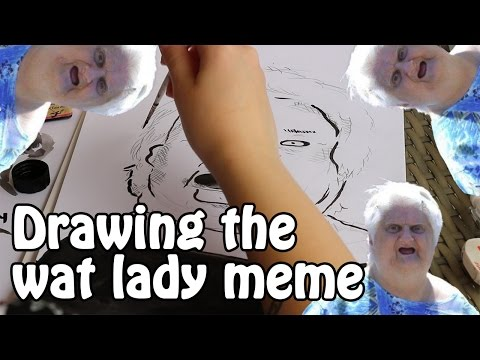 DRAWING THE WAT LADY MEME | sketching with ilanka