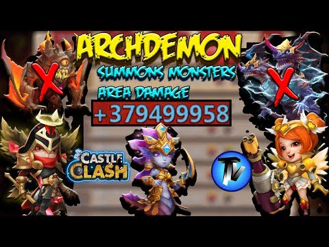 Castle Clash - Archdemon Area DMG | Without Ghoulem | Mike Strategy | F2P