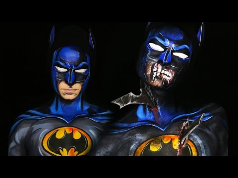 Zombie Batman & Comic Book Batman Makeup Tutorial