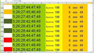 Lotto 6 aus 49 Summe 198 video…