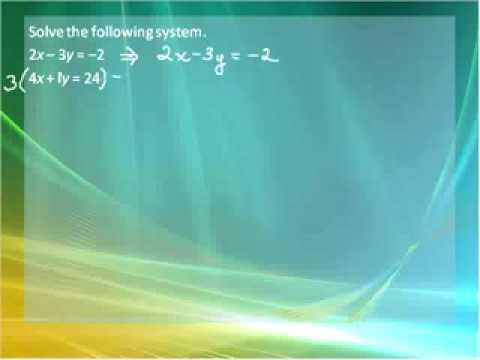 Systems of Linear Equations Part 1