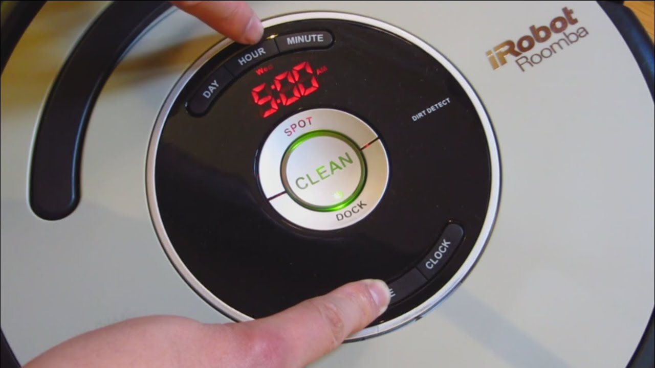 Irobot Roomba How To Set And Delete Weekly Schedule