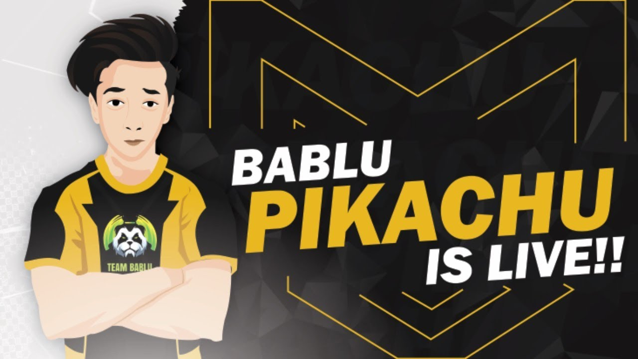 BABLU PIKACHU LIVE ✔️  INTERNATIONAL SCRIMS GAMEPLAY  ✔️
