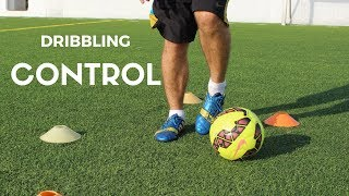 Dribbling and shooting drill to improve your weak foot in soccer