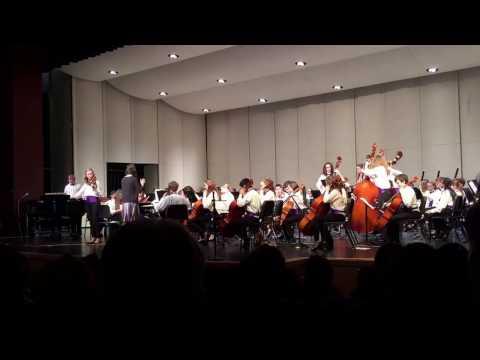 "Washington Middle School Senior Orchestra performing ""Irish Legend"" by Robert Kerr. 12-14-2016"