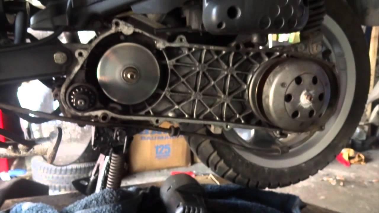 Vario Wartung am Motorroller (Peugeot Elystar 50) - YouTube