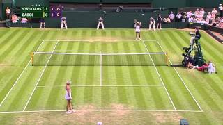 Serena Williams return sends chair umpire ducking for cover
