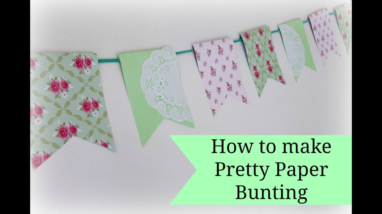 Easy Paper Bunting Tutorial