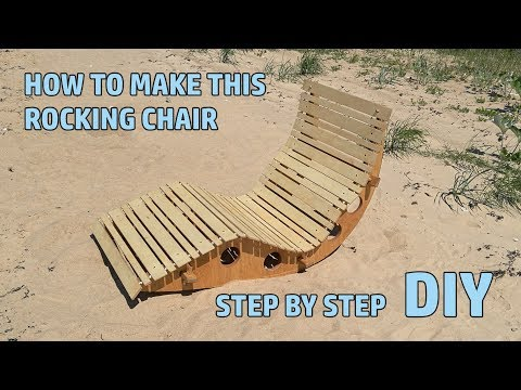 Hand made Rocking chair for outdoor DIY 4k