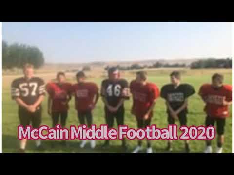 McCain Middle School Football 2020