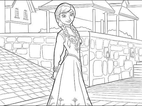 princess coloring pages frozen olaf - photo#38