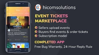 Event Tickets Marketplace App Template & Source Code - Subscription Model