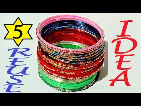 5 Reuse Ideas Of Waste Bangles | DIY Best Out Of Waste Crafts | Handmade Bangles