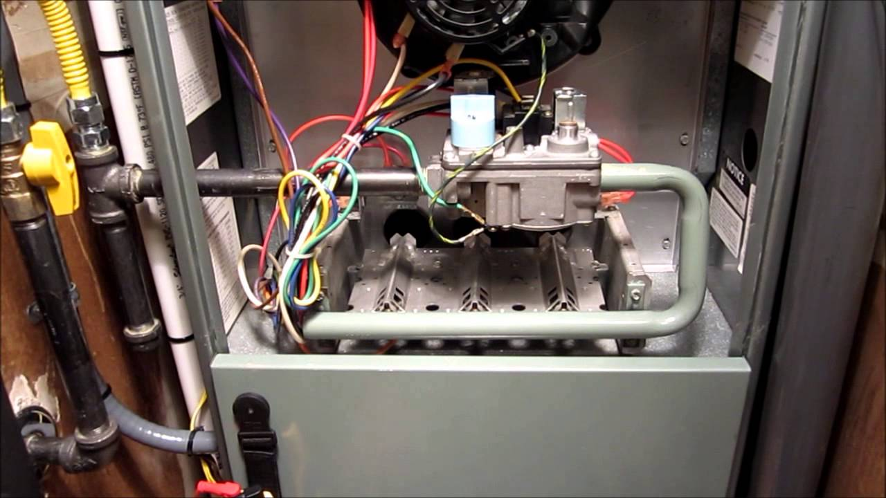 rheem rgph testing pressure switch with rochester heating air youtube [ 1280 x 720 Pixel ]