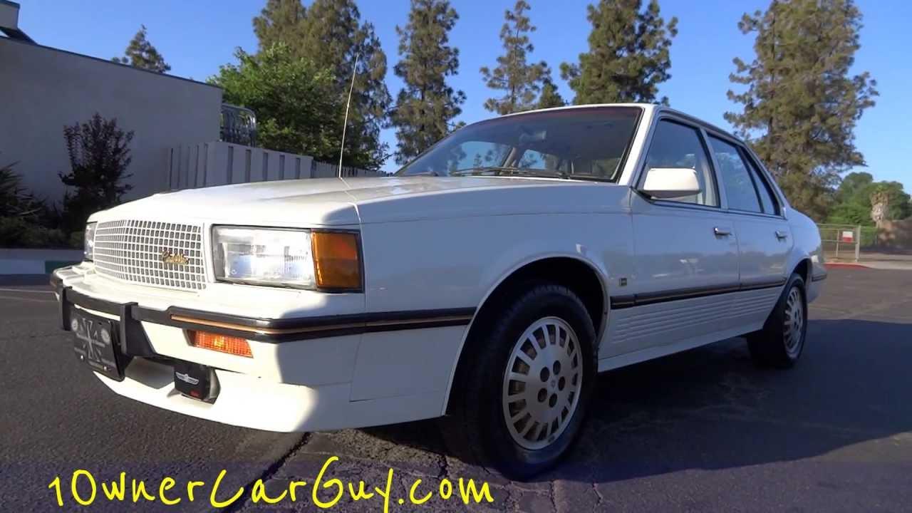 1986 Cadillac Cimarron D'Oro Gold Package Luxury Sedan 1 Owner ...