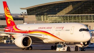 First A350 in Calgary! Hong Kong Airlines Airbus A350-900 Diversion to Calgary Airport