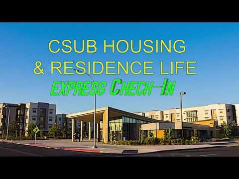 CSUB Housing -2016-2017 Express Check-In