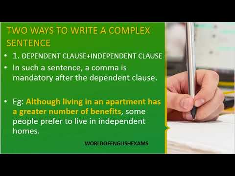 IELTS WRITING TYPES OF COMPLEX SENTENCES