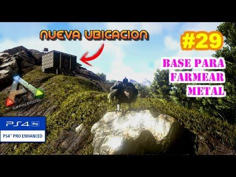 BASE PARA FARMEAR METAL ⛏ | ARK Survival Evolved [#29] PS4 PRO | Gameplay español