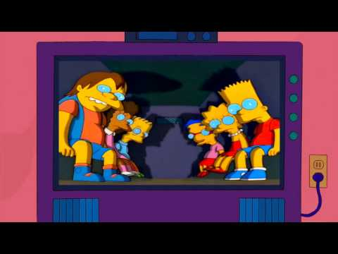 The Simpsons - Chief Wiggum Gets Scared Funny Scene