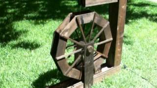 Wooden Water Wheel, Decorative.