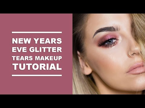NEW YEARS EVE GLITTER TEARS GLAM MAKEUP TUTORIAL I COCOCHIC