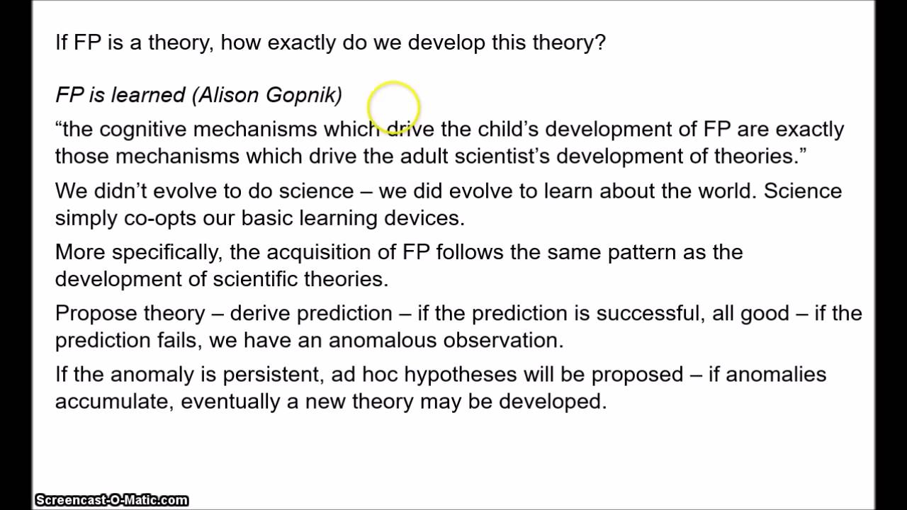 folk psychology 1 the theory theory 1