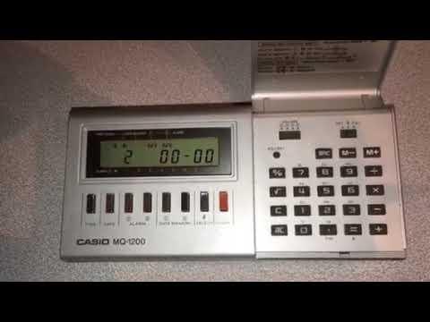 My Casio MQ-1200 Melody Alarm Digital Clock