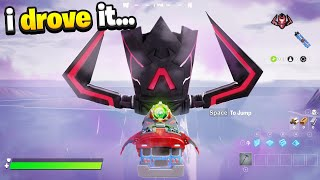 I DROVE The Battle Bus To Galactus! (Fortnite)