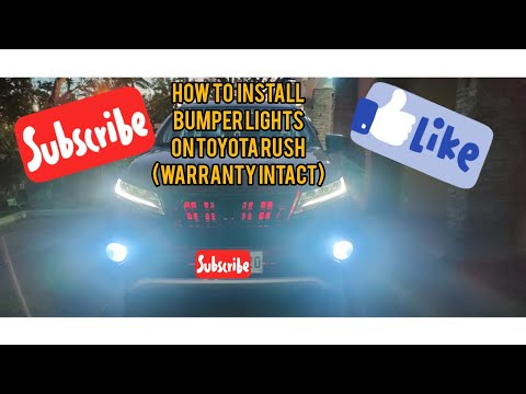 🇵🇭DIY: HOW TO INSTALL BUMPER LIGHTS ON TOYOTA RUSH (WARRANTY INTACT)🇵🇭