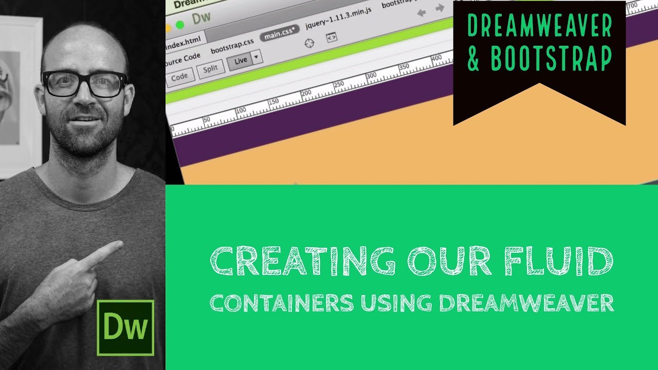 Creating our fluid containers using Dreamweaver - Dreamweaver [14/54]