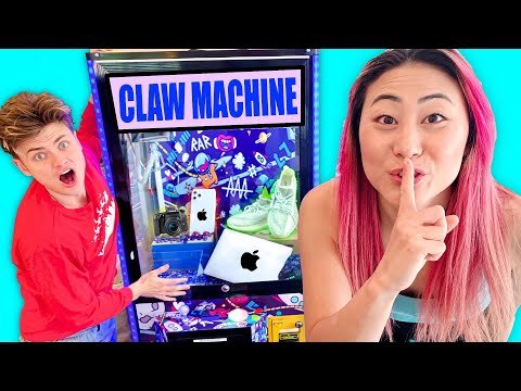 I PUT ALL HIS STUFF IN A CLAW MACHINE! (he was so mad)