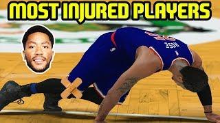MOST INJURED PLAYERS! CAREER ENDERS! NBA 2K17 MYTEAM ONLINE GAMEPLAY