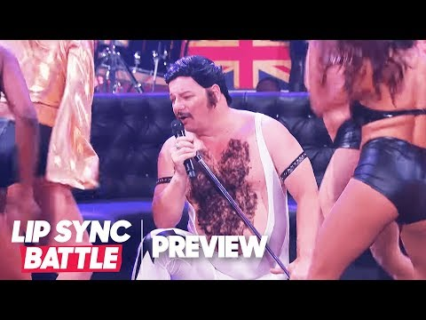 """Comedian Turned Rockstar Jeff Ross Performs Queen's """"Fat Bottomed Girls""""   Lip Sync Battle Preview"""