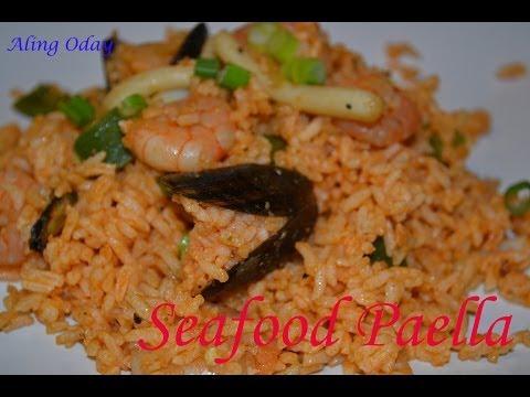 Quick and Easy Seafood Paella (Filipino Version)