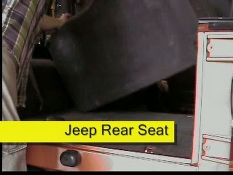 Removing the back seat of a Jeep Wrangler TJ YouTube