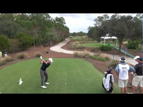 GOLF SWING 2012 - BUD CAULEY DRIVER - ELEVATED DOWN THE LINE & SLOW MOTION - HQ 1080p HD