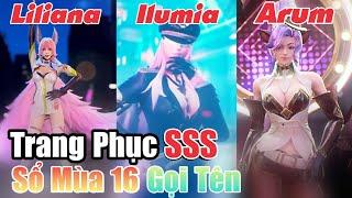 [Liên Quân] Update Trang Phục SSS Mới - Sổ Sứ Mệnh Mùa 16 Gọi Tên Ilumia, Arum Và Liliana Liên Quân