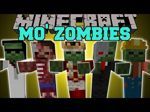 Thumbnail: Minecraft: MO' ZOMBIES (13 NEW TYPES OF CRAZY ZOMBIES!) Mod Showcase