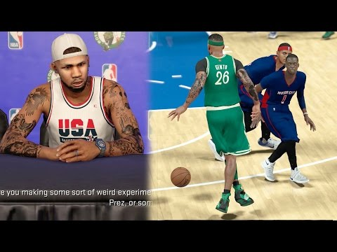 NBA 2k17 MyCAREER - Crossed Up Two Defenders At Same Time! Denver Press Conference Troll! Ep. 30
