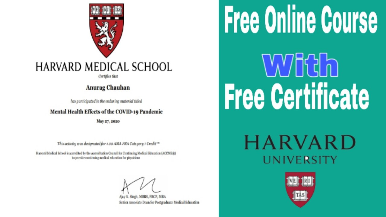 harvard business school free online courses with certificate