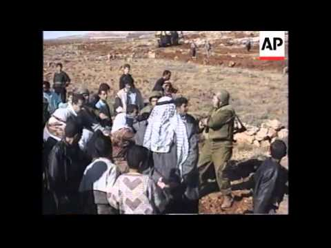 WEST BANK: PALESTINIAN PROTEST OVER CONFISCATION OF LAND
