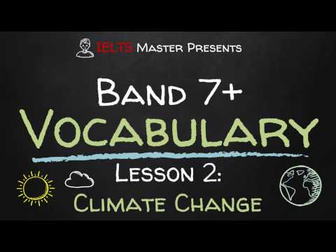 IELTS Band 7+ Vocabulary Lesson 2: Climate Change
