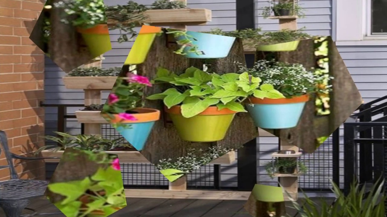 Jardines verticales con palets youtube for Palets jardines verticales