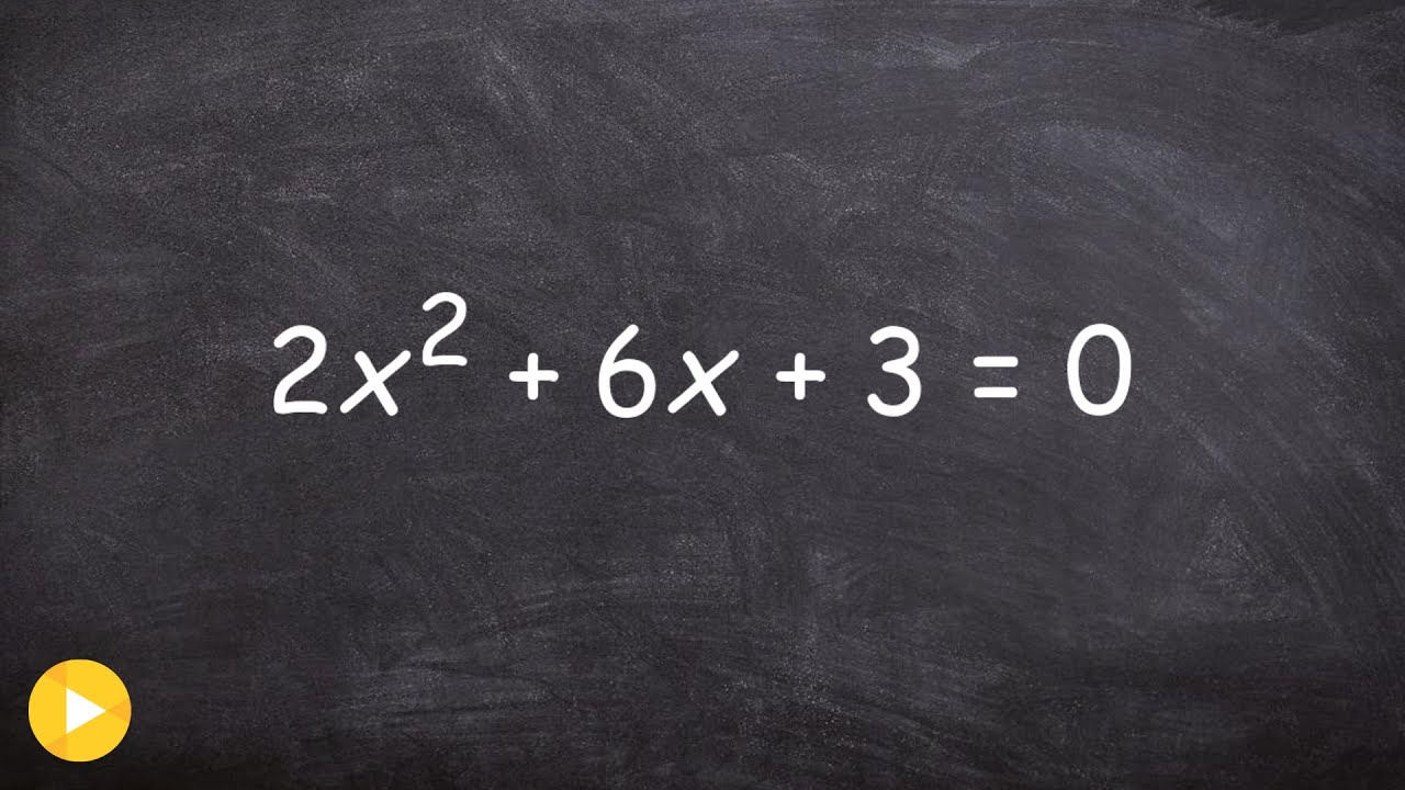 Precalculus  Finding The Zeros Bypleting The Square When You Have A  Fraction 2x^2+6x+3=0