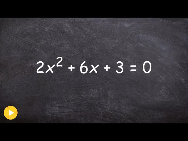 2.2 Finding the zeros by completing the square when you have a fraction - Online Tutor